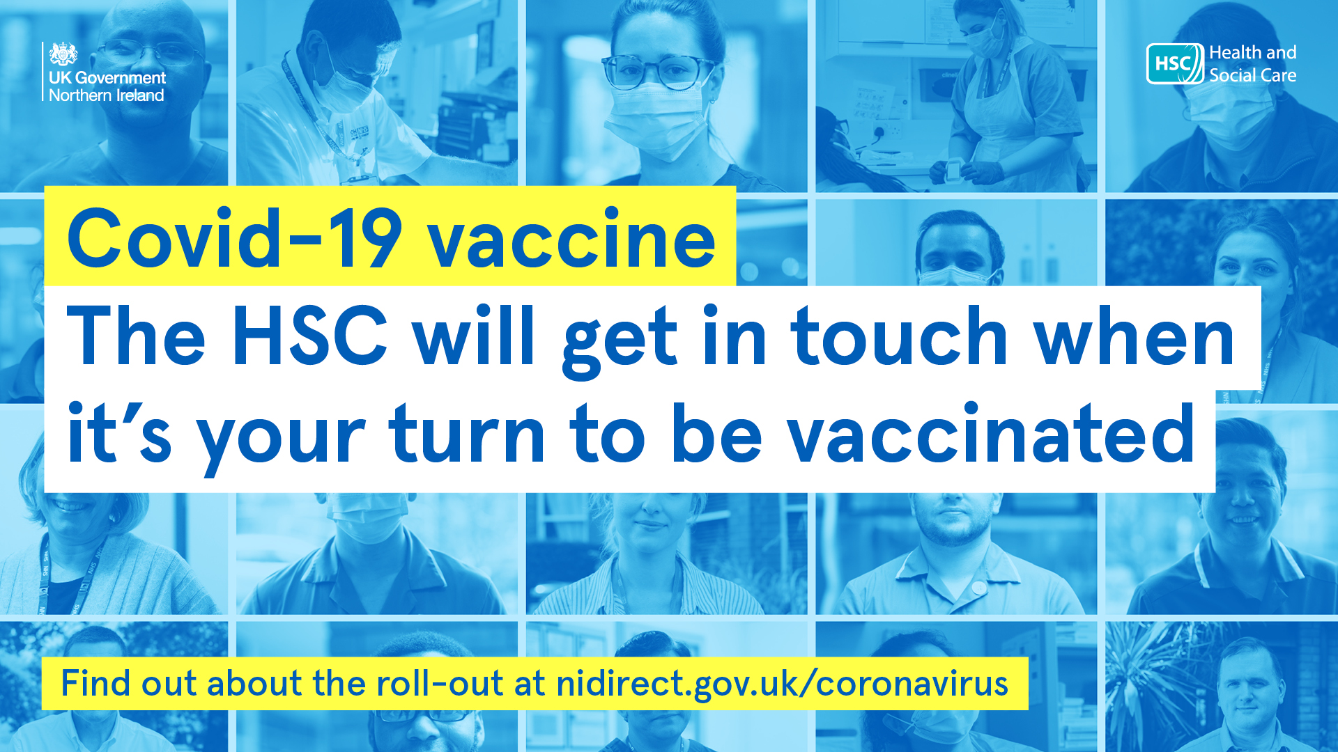 COVID-19. Get Vaccinated. We will contact you when its your turn.